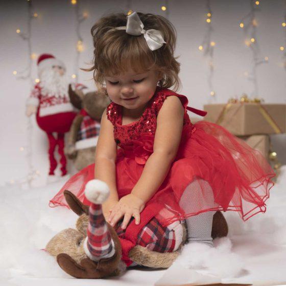 Servizio fotografico bambina - Natale - Firenze